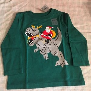 Santa On Dinosaur shirt-NEW-18 months